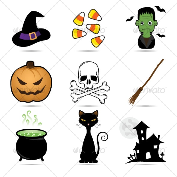 Halloween cute icons - Web Icons