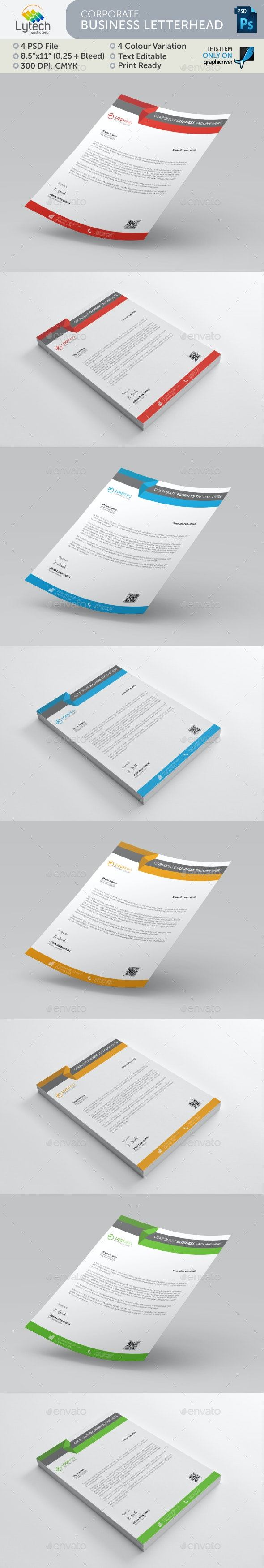 Carporate Business Letterhead - Stationery Print Templates