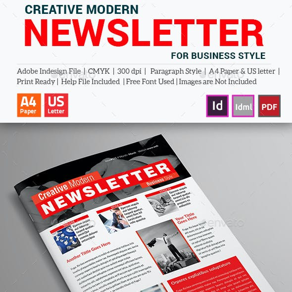 Creative Modern Newsletter (For Business Style)