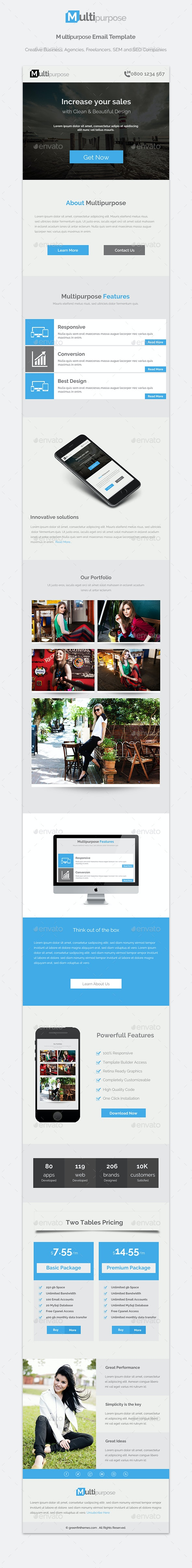 Multipurpose -  Email Template Newsletter - E-newsletters Web Elements