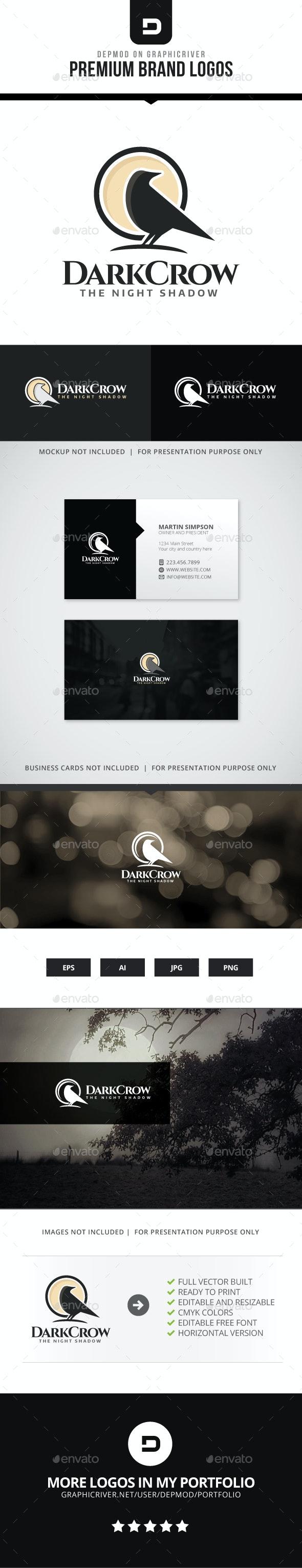 Dark Crow Logo - Animals Logo Templates
