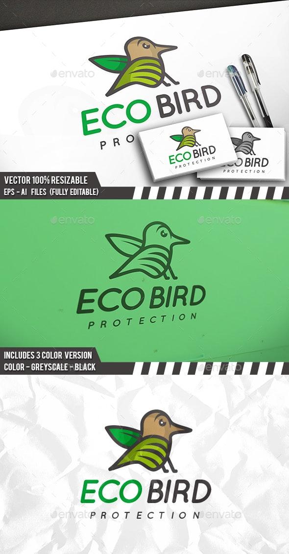 Eco Bird Logo - Animals Logo Templates