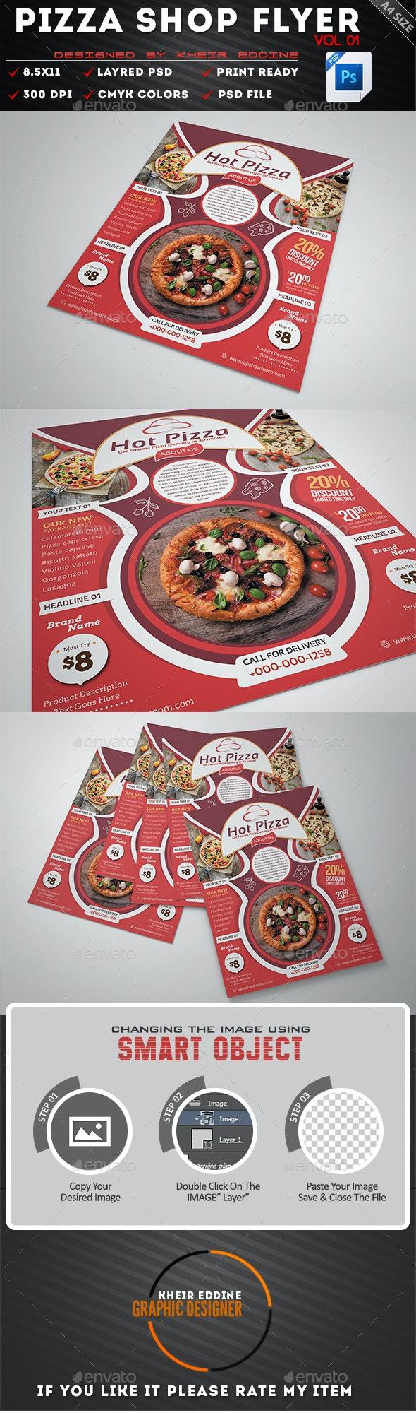 Pizza Shop Flyer Vol 01 - Flyers Print Templates