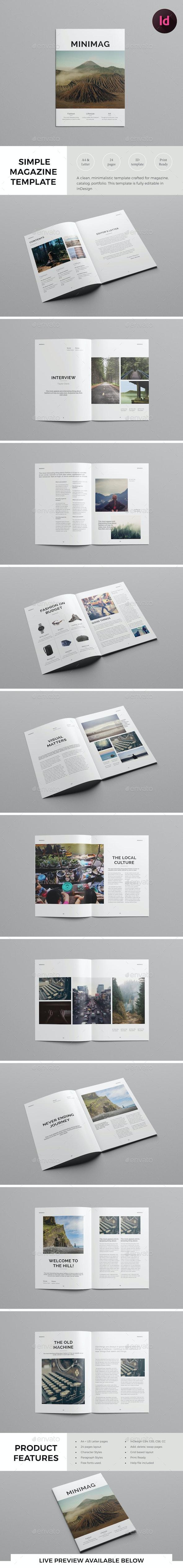 Simple Magazine Template - Magazines Print Templates