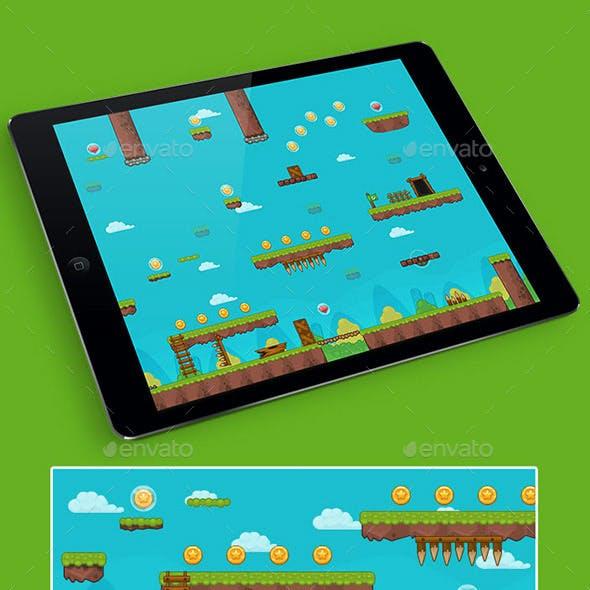 2D Grass Game Platformer Tilesets