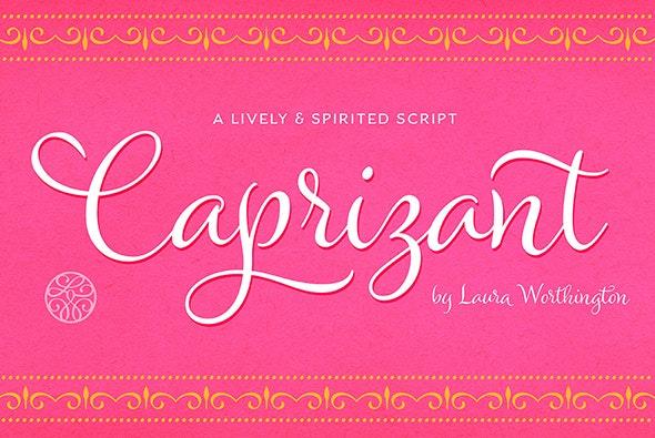 Caprizant Bold - Script Fonts