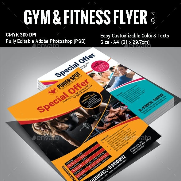 Gym & Fitness Flyer - Vol3