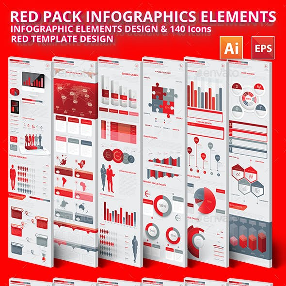 Red Pack Infographics Design