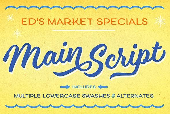 Ed's Market Main Script - Script Fonts