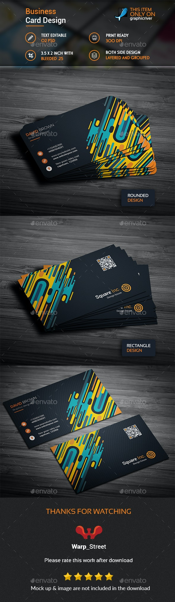 Colorful Business Card Template - Business Cards Print Templates