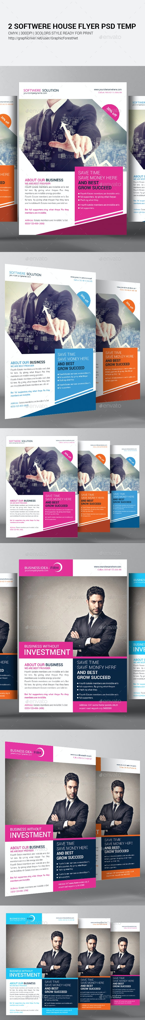 2 Software House Flyer Template - Corporate Flyers