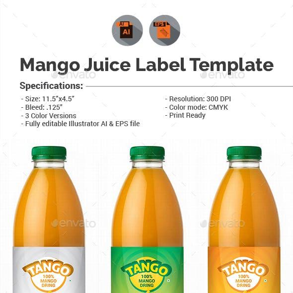 Mango Juice Label Template