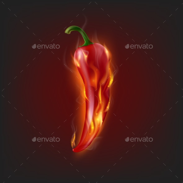 Burning Chilli Pepper - Food Objects