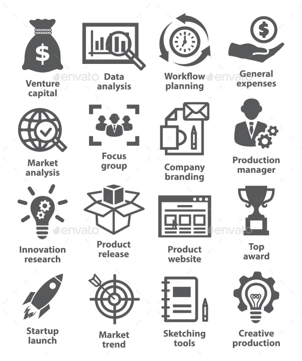 Startup Business And Development Icons - Business Icons