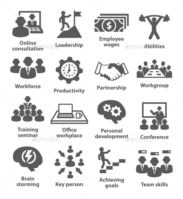 Business Management Icons. Pack 11. - Business Icons