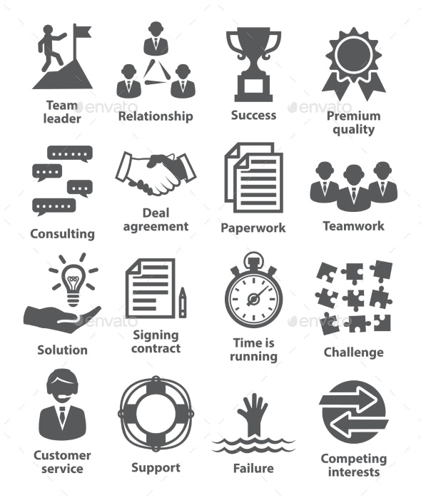 Business Management Icons. Pack 10. - Business Icons