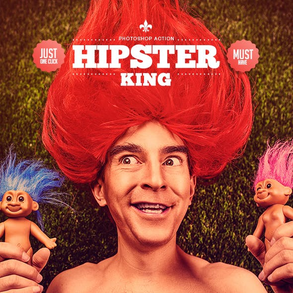 Hipster King - Photoshop Action