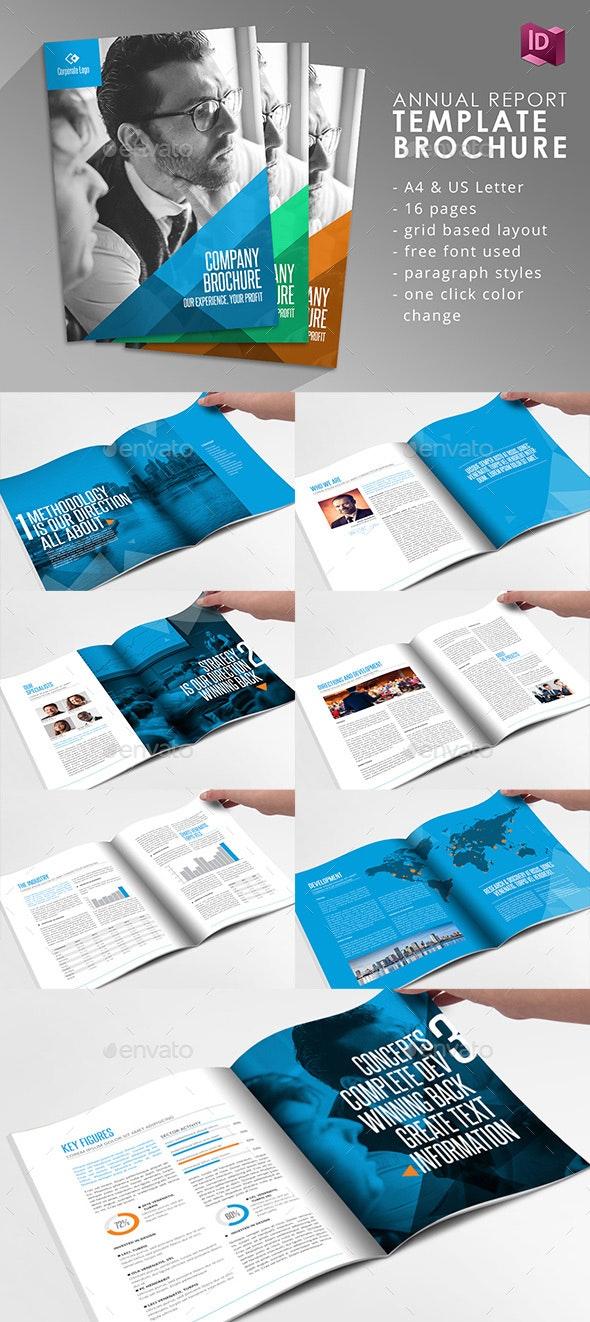 Company Brochure Adobe Indesign Template - Informational Brochures
