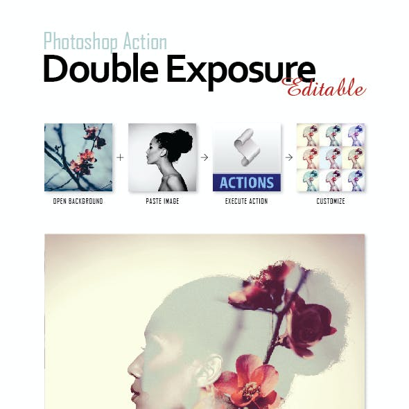 Photoshop Actions Pack - Double Exposure (Editable)