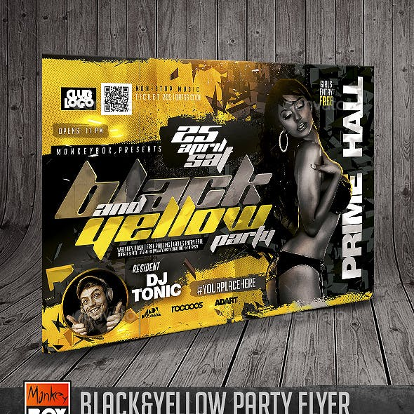 Black&Yellow Party Flyer