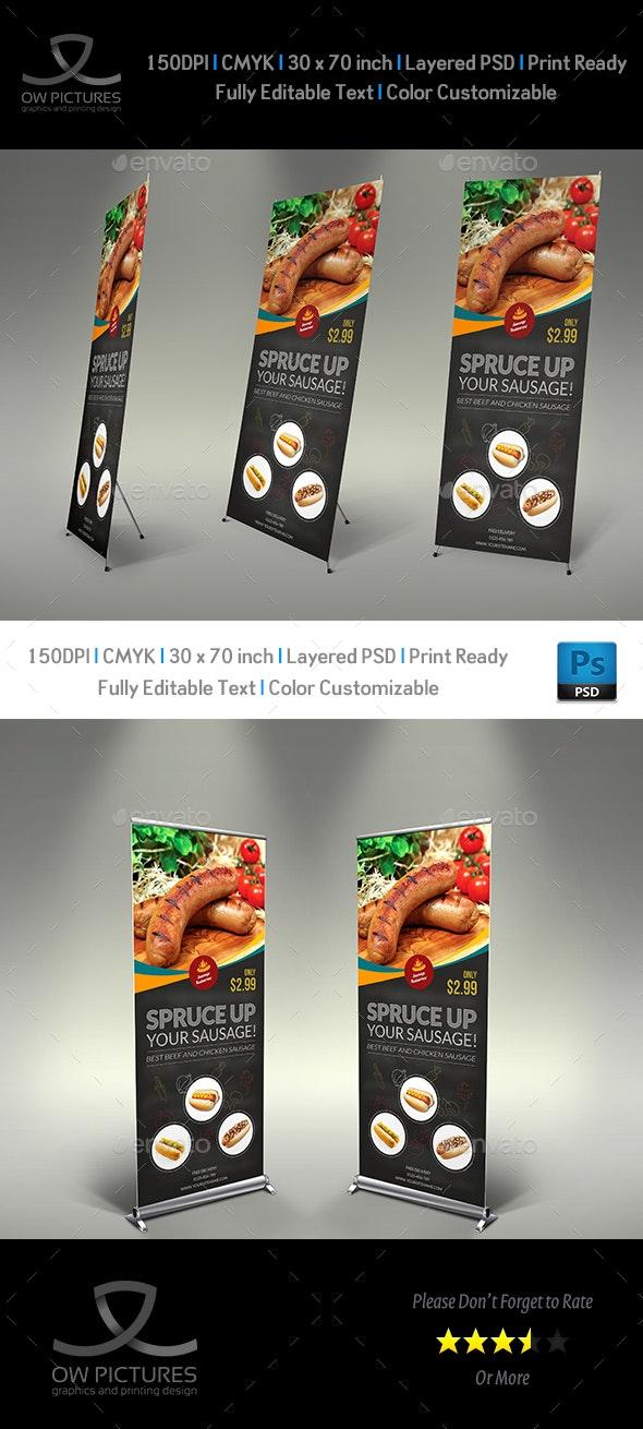 Sausage Restaurant Signage Template - Signage Print Templates