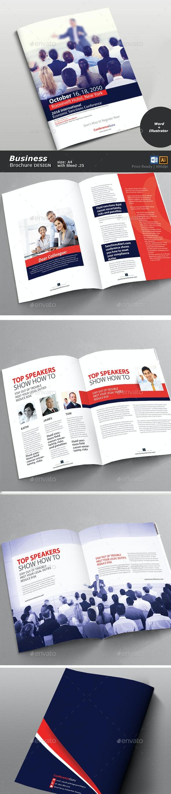 Conference Brochure Design  - Brochures Print Templates
