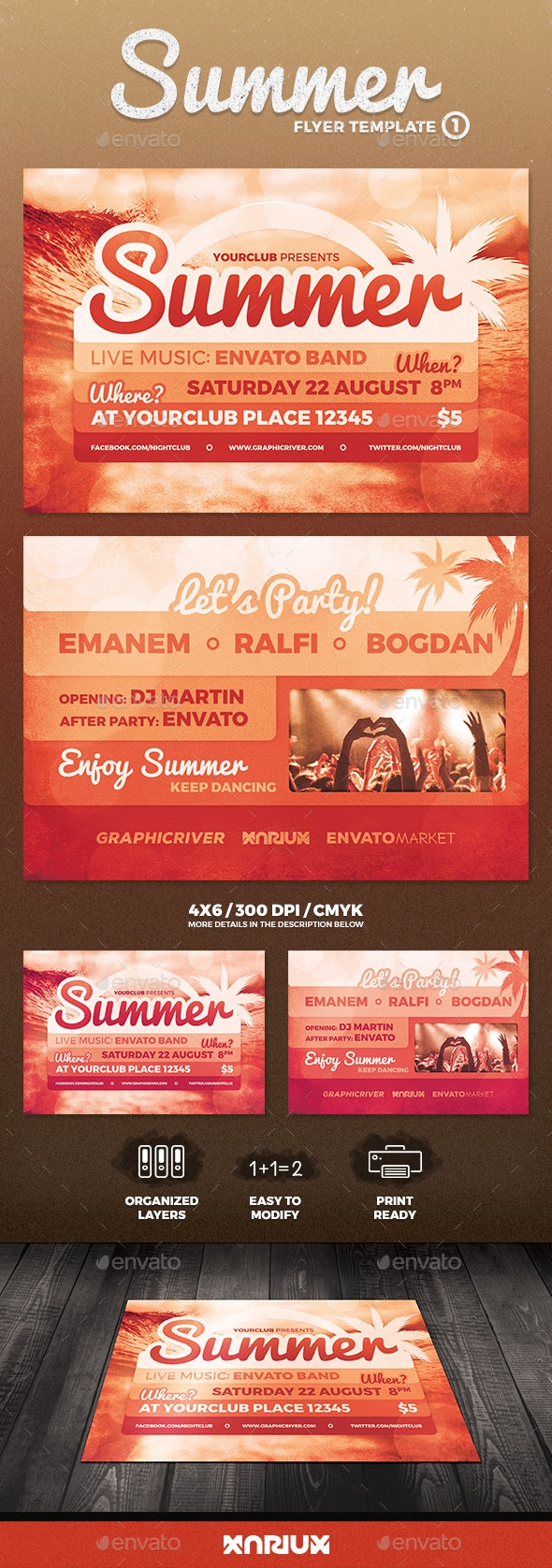 Summer Flyer 1 - Clubs & Parties Events