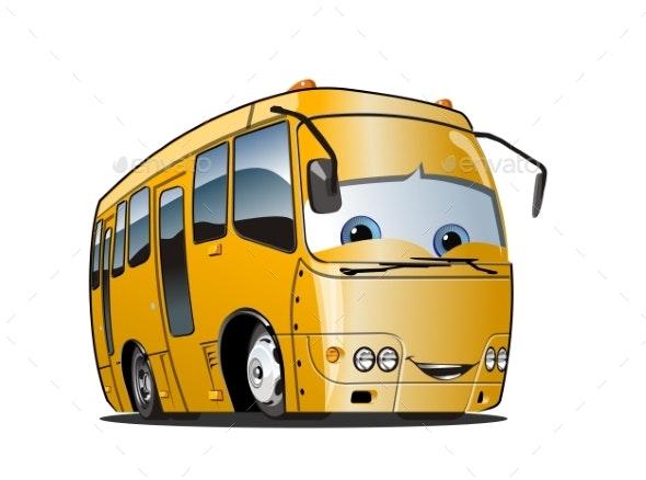 Cartoon School Bus - Travel Conceptual