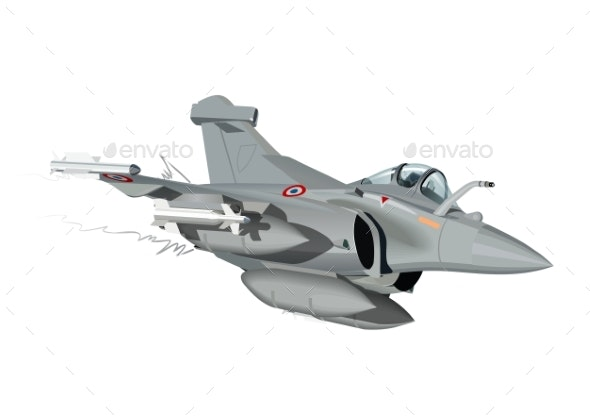 Cartoon Military Airplane - Man-made Objects Objects