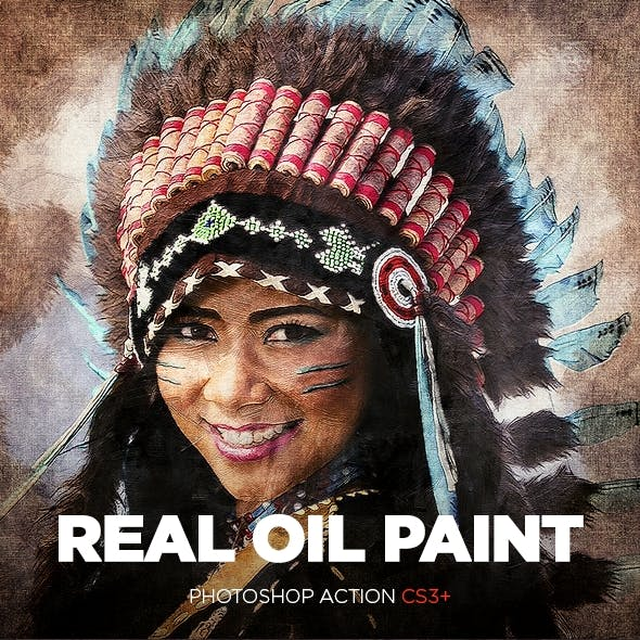 Real Oil Painting Photoshop Action CS3+