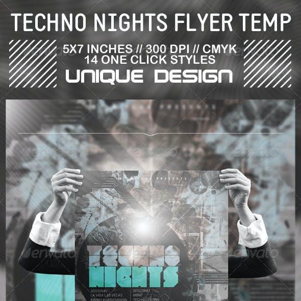 Techno Nights Flyer