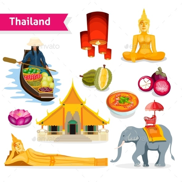 Thailand Travel Set - Travel Conceptual