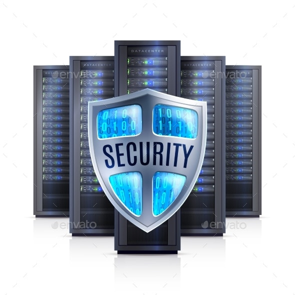 Server Rack Security Shield Realistic - Computers Technology