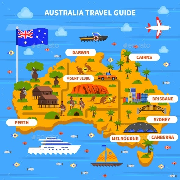 Australia Travel Guide Illustration