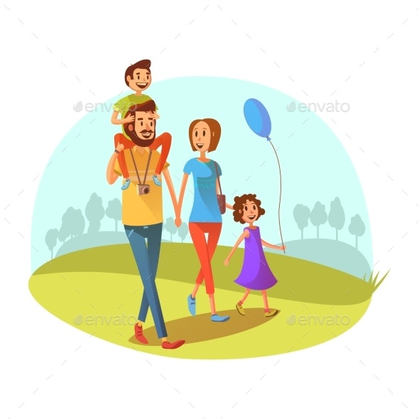 Family Weekend Illustration  - People Characters