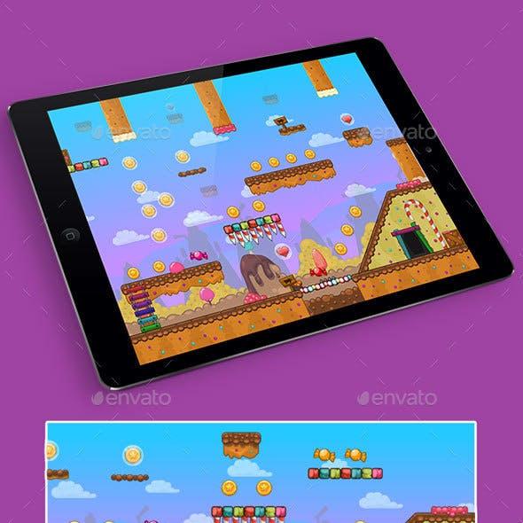2D Candy Game Platformer Tilesets
