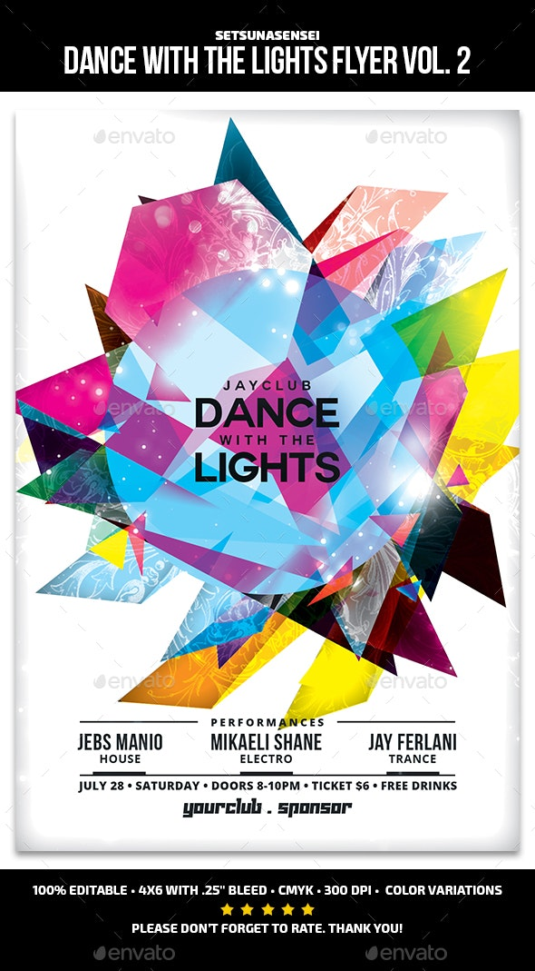 Dance with the Lights Flyer Vol. 2 - Clubs & Parties Events