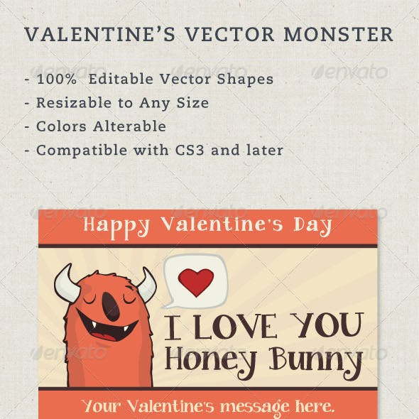 Valentine's Vector Monster