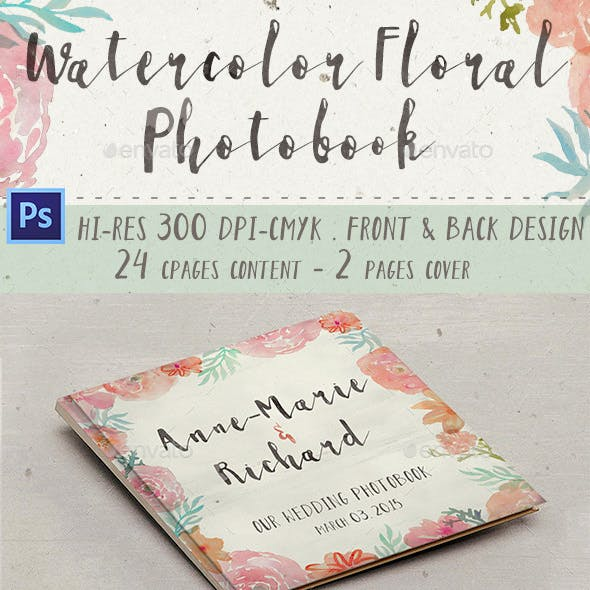 Watercolor Floral Photobook