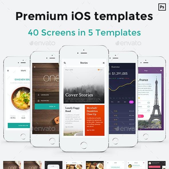 One - Premium Mobile UI Templates for iPhone 6 Plus