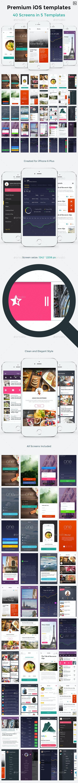 One - Premium Mobile UI Templates for iPhone 6 Plus - User Interfaces Web Elements