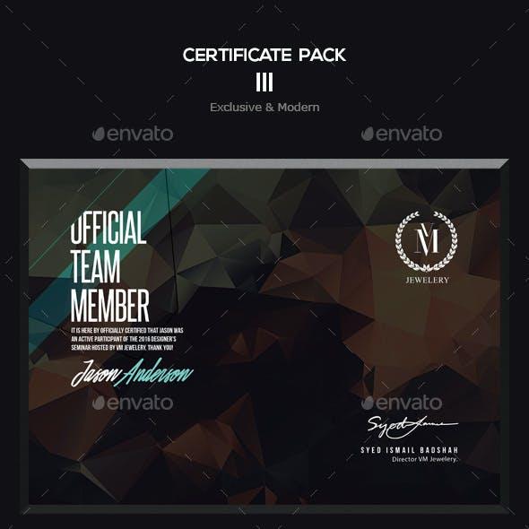 Certificate Pack 3