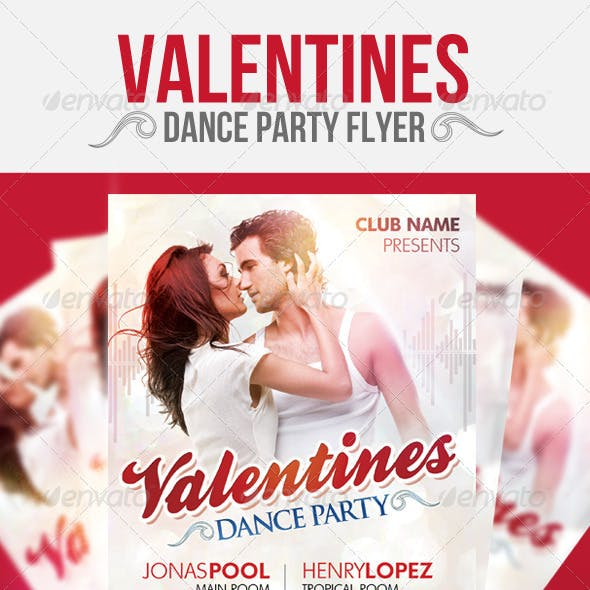 Valentines Dance Party Flyer