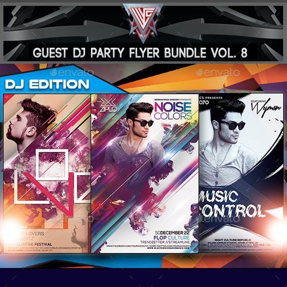 Guest DJ Party Flyer/Poster Bundle Vol. 8