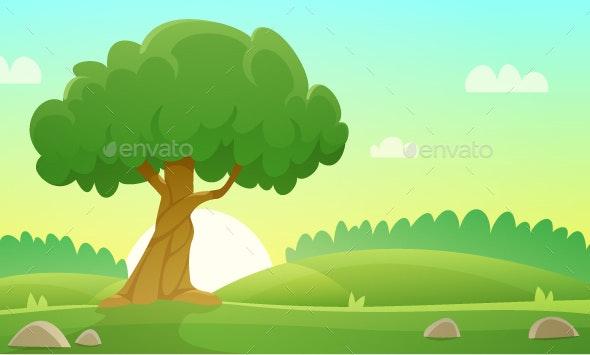 Summer Countryside Landscape - Landscapes Nature