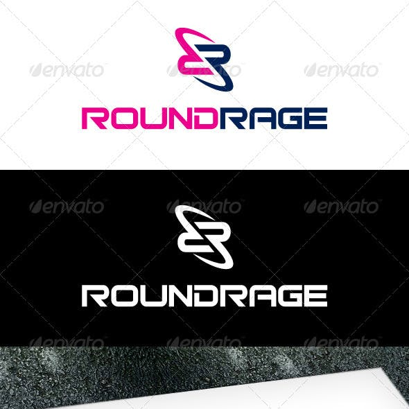 Abstract R Logo Template
