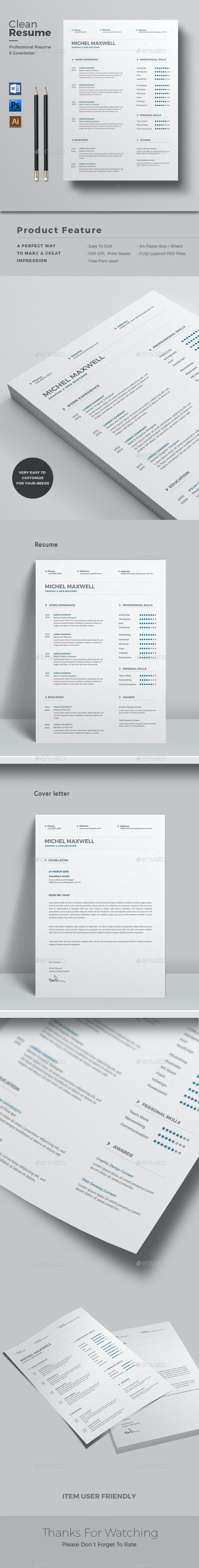 CV Word - Resumes Stationery