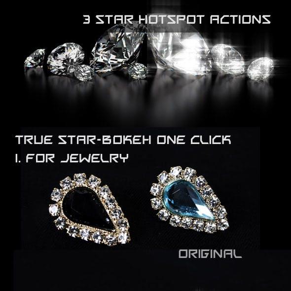 Star Bokeh Light Shine Actions