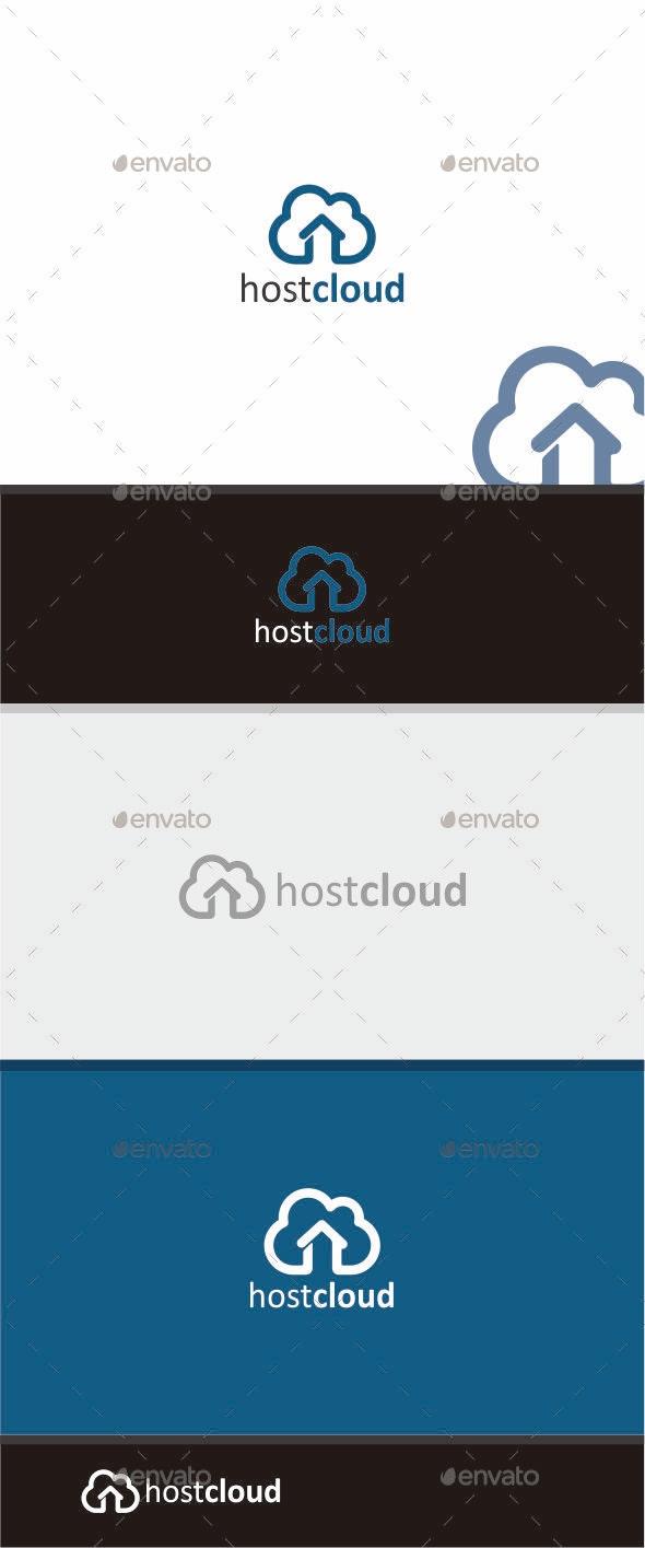 HostCloud Logo - Symbols Logo Templates