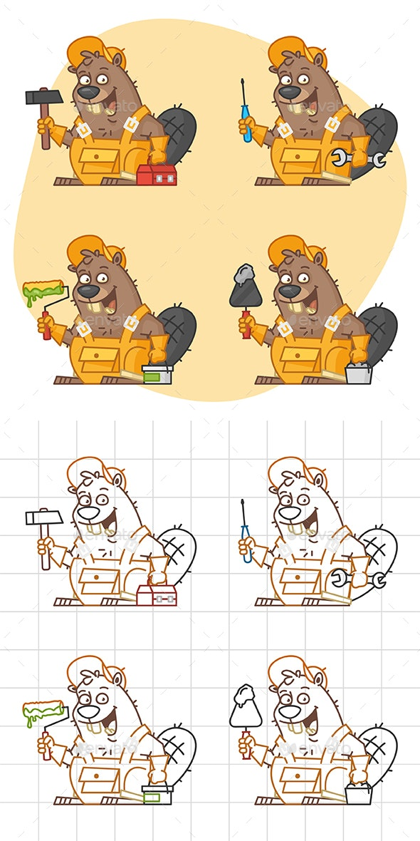 Beaver Master in Different Versions Part 3 - Animals Characters